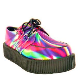 T.U.K. Creepers in Rainbow Psychedelic